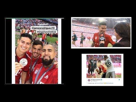 Que Tal la Frase de James Rodríguez en Celebración de Titulo con Bayern Múnich