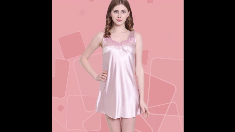 Plus Size Crochet Lace Trim Satin Tank Nightdress