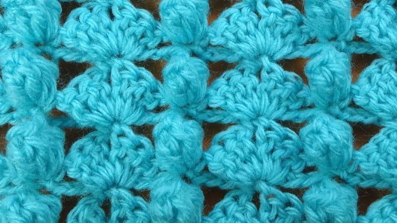 Забавный Ажурный узор крючком с шишечками Openwork crochet stitch 113