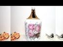 Como Reciclar Garrafão de Vinho com Decoupagem e Stencil