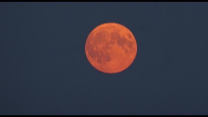Полное лунное затмение Кровавая луна 27 07 2018 Full version Total lunar eclipse Blood moon
