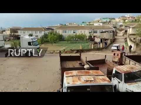 Russia: Huge floods wash away water tank and livestock in Dagestan