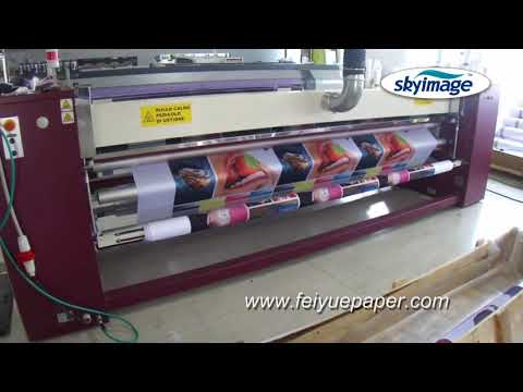 Sublimation Calender Larges 3.2m Roller Heat Transfer Machine Transfering Process