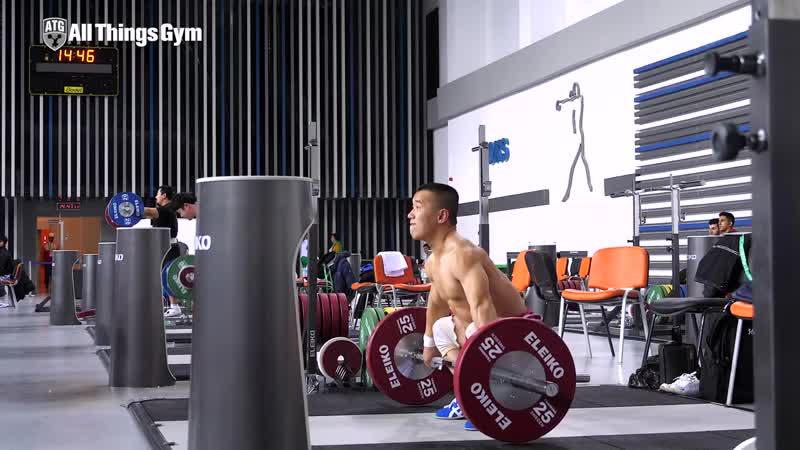 Om Yun Chol 🇰🇵 Heavy Training! (115kg Snatch - 150kg CJ) 2018 World Championships [4k].mp4