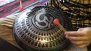 Hijazz Phrygian Dominant Handmade steel tongue drum with Aum mandala