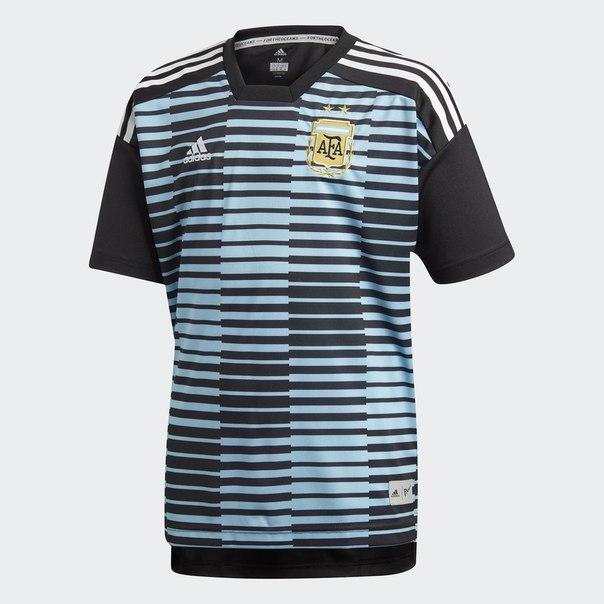 Домашняя предматчевая футболка сборной Аргентины