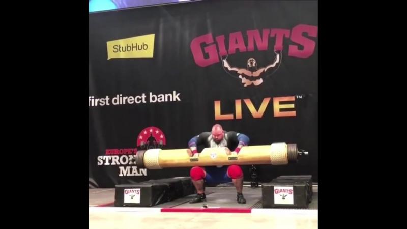 Хафтор Бьёрнсон логлифт 213 кг. новый рекорд Исландии