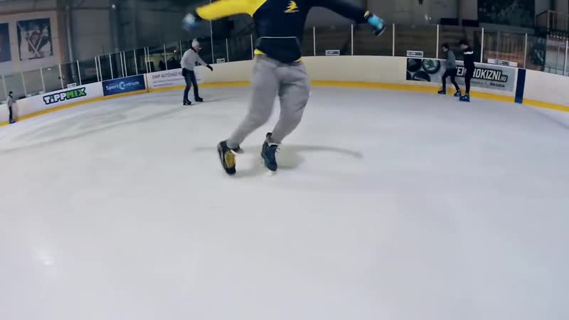 Ice Freestyle Tricks Two Feet Spin Sweep Inward Triangle Carving