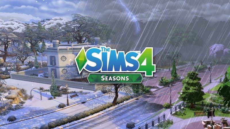 The Sims 4 Времена года - дождь, гроза, снег, метель и праздничные традиции