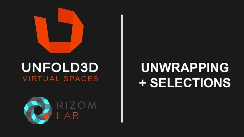 Unfold 3D 10 VS Tutorial - Unwrapping and Selections