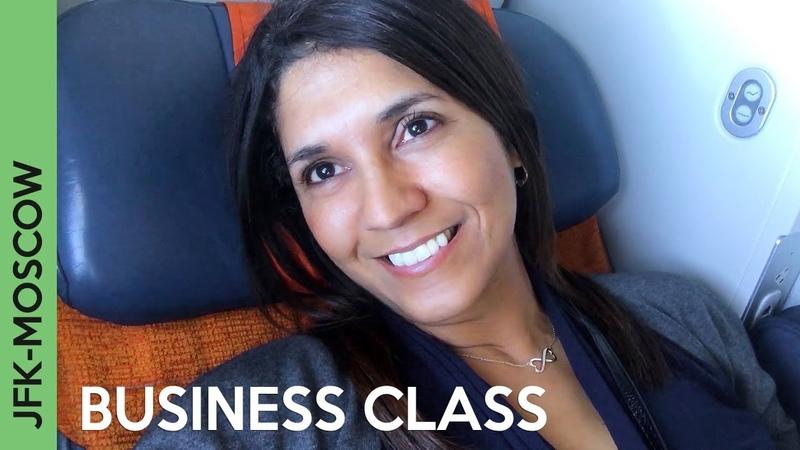 AEROFLOT flight to Moscow   JFK-SVO BUSINESS CLASS - Wow