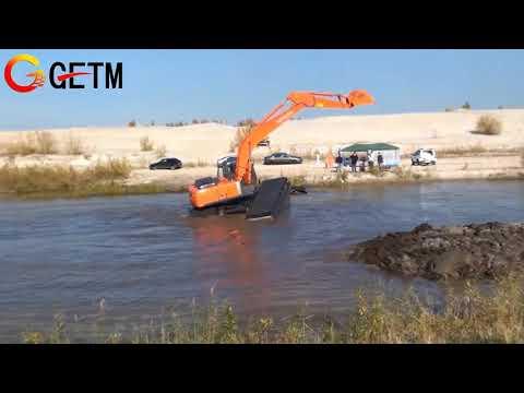 GETM AMPHIBIOUS EXCAVATOR IN RUSSIA part2
