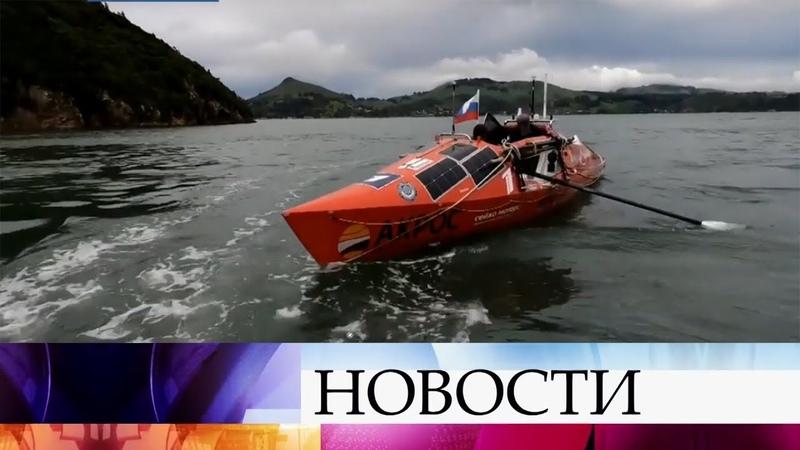 Первая в истории кругосветка на веслах: Федор Конюхов ушел в одиночное плавание.
