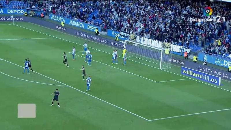 RC Депортиво Ла Корунья - Малага CF, 1-1, Сегунда 2018-2019, 8 тур