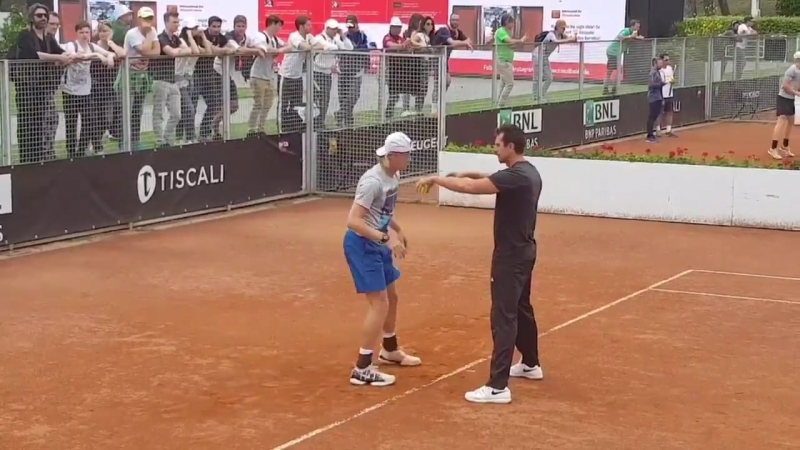 A tough match awaits the NextGenATP player @denis_shapo will face Rafael Nadal at Centrale Stadium in the afternoon! - - ibi18 t