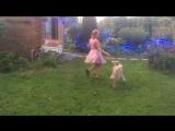 Немова Юлия и Бильбо, желтый уровень, по фильму Эмира Кустурица «чёрная кошка, белый кот»
