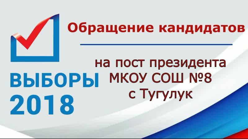 Предвыборная агитация кандидатов на пост президента школы