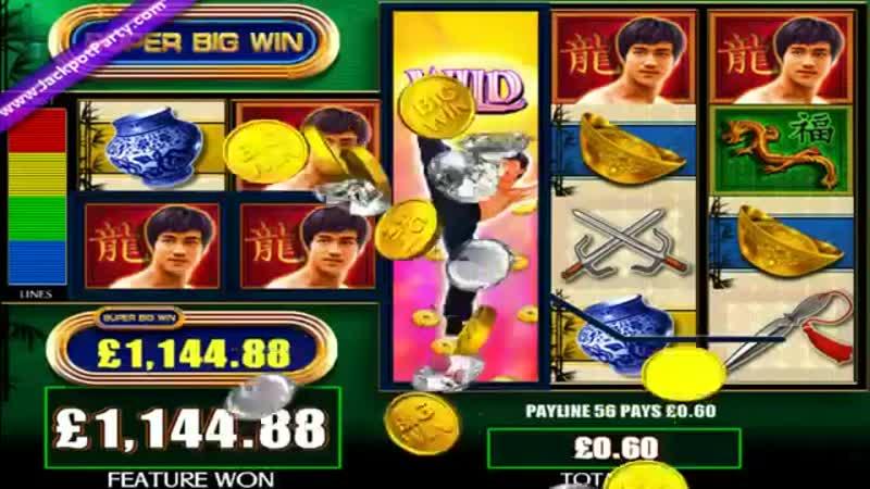 £2028 MEGA BIG WIN with £0.6 bet on Bruce Lee WMS slot