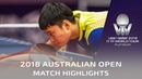 Dimitrij Ovtcharov vs Yu Ziyang   2018 Australian Open Highlights (R32)