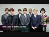 181112 BTS @ E! Peoples Choice Awards
