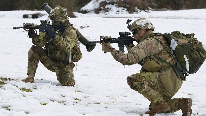 US Army Paratroopers in Action During Heavy Combat Live Fire Training - 173rd Airborne Brigade