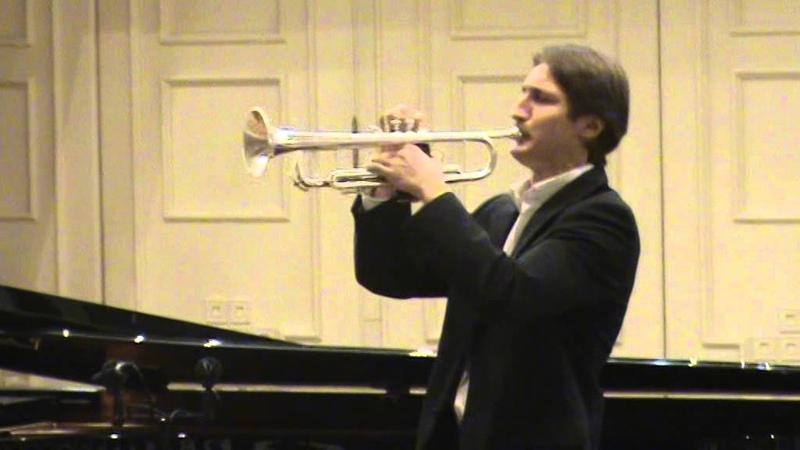 И.С.Бах концерт для скрипки ля минор 1ч.переложение для трубы исп.Василий Барамиа