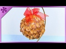 DIY How to make Christmas ball out of pistachio shells ENG Subtitles Speed up 435