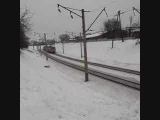 ЕР9М-523 6723-Гребінка - Полтава-Південна - Огульці та Вл80т-1487 з вантажним потягом