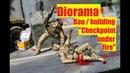 Diorama Bau building Checkpoint under fire ACADEMY M1151 1 35