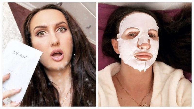 Восстанавливающая тканевая маска для лица NovAge от Орифлэйм с гиалуроновой кислотой