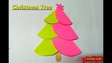 DIY Very Easy Origami Paper Craft Christmas Tree Tutorial | 3D Paper Christmas Tree