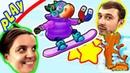 БолтушкА и ПРоХоДиМеЦ в СНЕЖНЫХ Соревнованиях в Городе МЕЧТЫ! 98 Игра для Детей - Township