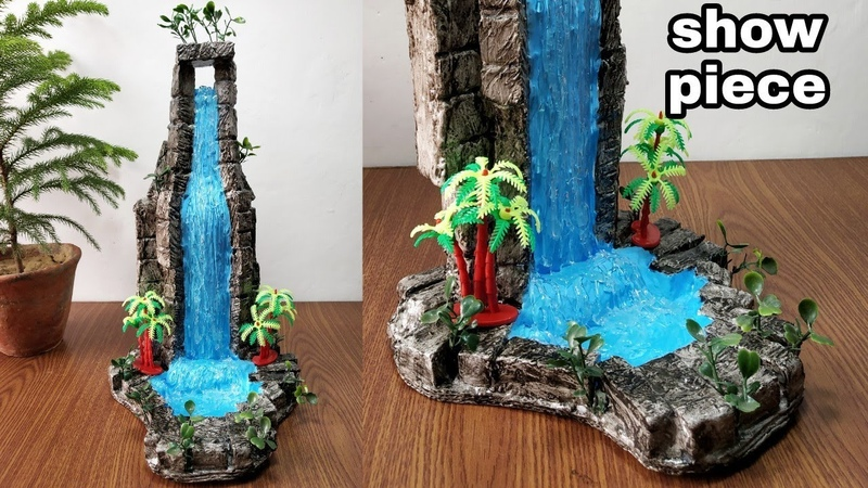 How to make beautiful fountain waterfall show piece