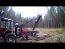 т-25 с самодельным погрузчикам , едем по дрова Praca w lesie. T-25