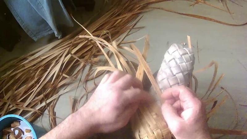 прямое плетение на носке лаптя -новый фасон