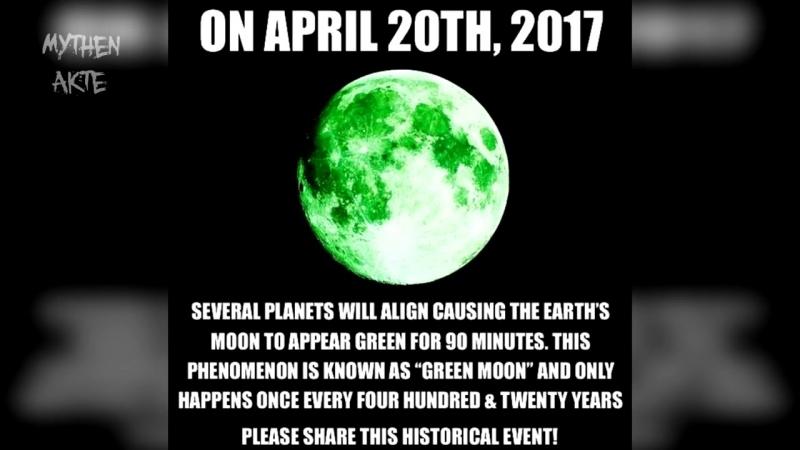 Erscheint der Mond heute grün - 20. April 2018 - MythenAkte
