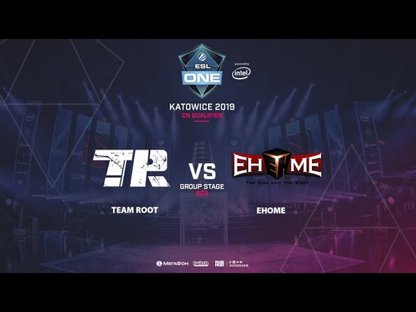 Team Root vs EHOME ESL One Katowice CN Qualifier bo3 game 1 Adekvat Lost