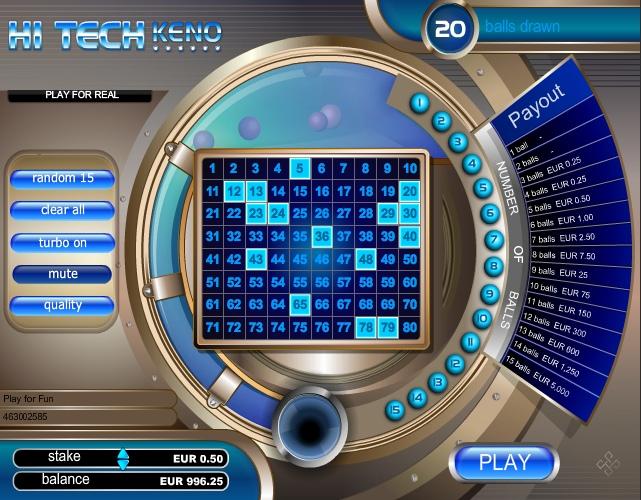 Вулкан: Игровые автоматы Hi Tech Keno