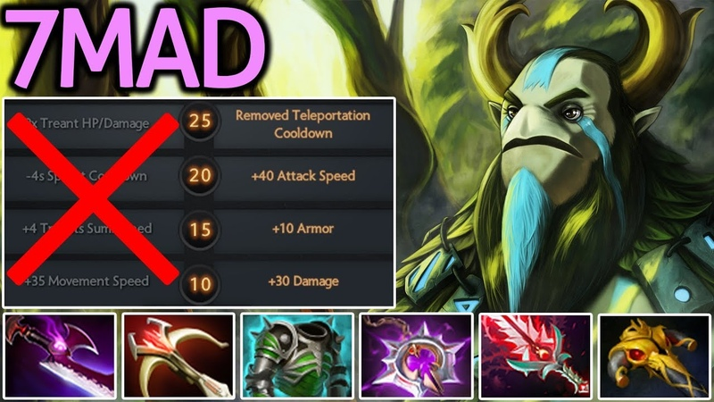 7MAD [Nature's Prophet] What is This Mass Gank? 7.17 Dota 2