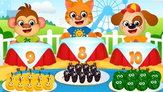 Fun Kids Learn Colors & Number Games - Funny Food 3 – Learning Games For Toddlers