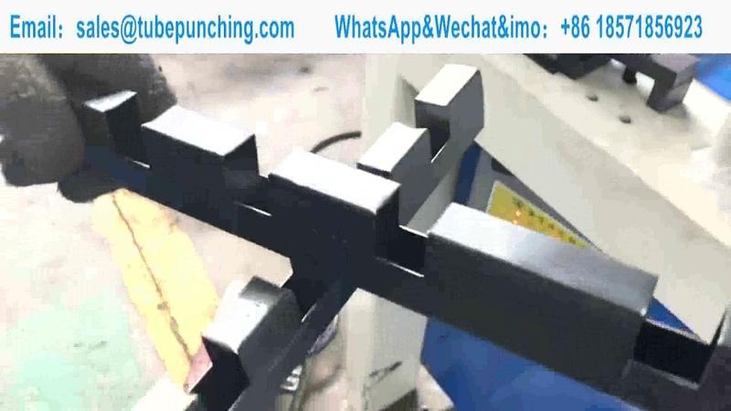 40 25mm Rectangular Tube Hydraulic Punching Machine Iron Works Notch