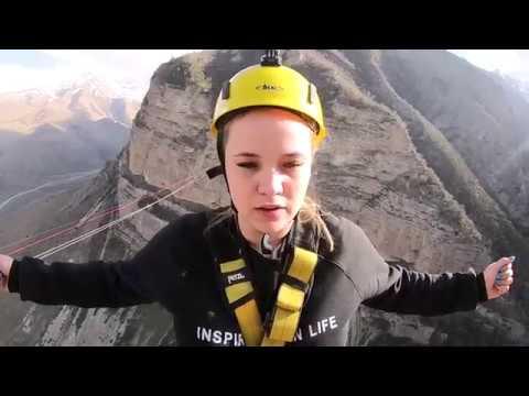 Прыжки с веревкой на Кавказе /250 м / май 2018
