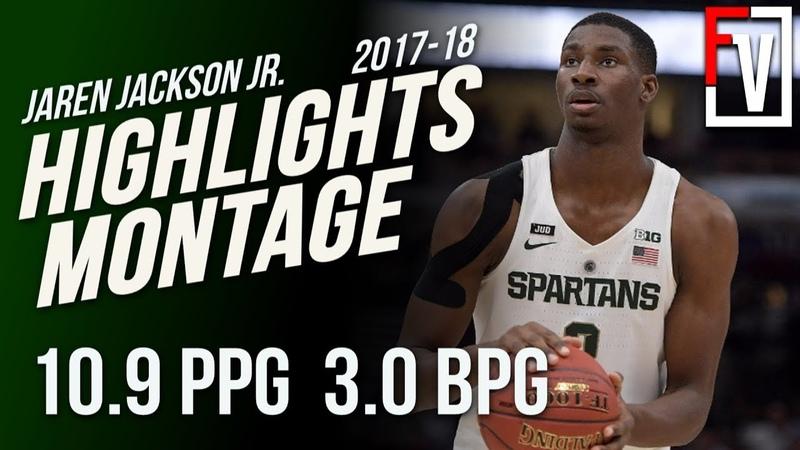 Jaren Jackson Jr. MSU Freshman Highlights Montage 2017-18 | 10.9 PPG, 3.0 BLKS, Better Than Bagley?