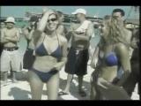 Beach bikini erotic female wrestling
