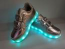 Кроссовки светящиеся серебряные до 31 рр