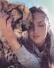Beautiful love of Cheetah and girl.