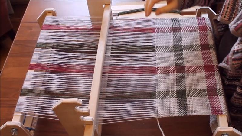 Rigid heddle loom Weaving Станок с бердом Ткачество