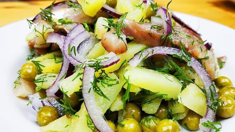 Салат-закуска из селедки за 5 минут на Новый Год!