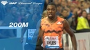 Noah Lyles 19.69 Wins Men's 200m - IAAF Diamond League Lausanne 2018