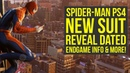 Spider Man PS4 News This Is When We See A New Suit Endgame Info More Spiderman PS4 Gameplay